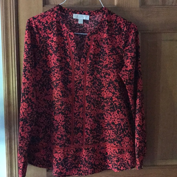 Michael Kors Tops - Women's Michael Kors  Red/Black tunic